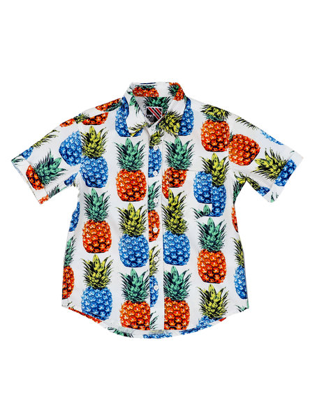 Arcade Styles - Pineapple Print Woven Shirt (8-18)