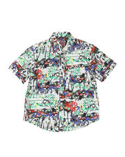 Tops - Graffiti Print Woven Shirt (8-18)-2469182