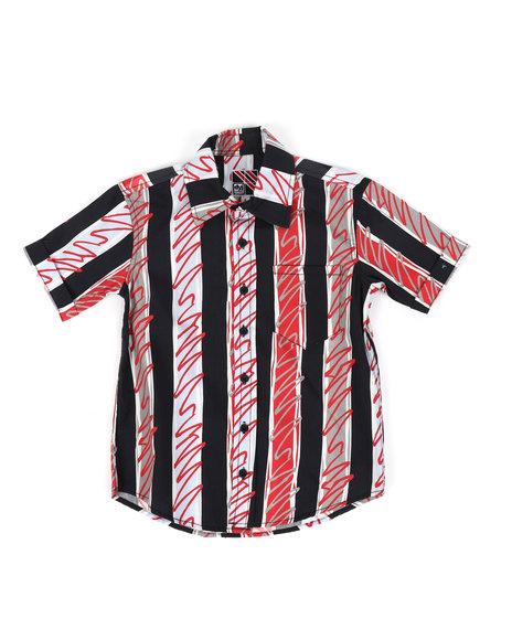 Arcade Styles - Striped Print Woven Shirt (8-18)