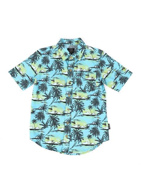 Buffalo - Palm Tree Print Twill Button Down Shirt (8-20)