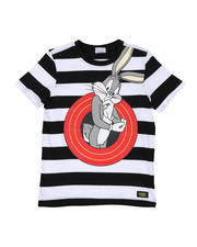Sizes 4-7x - Kids - Bugs Bunny Front and Back Stripe Tee (4-20)-2469605