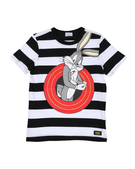 Looney Tunes - Bugs Bunny Front and Back Stripe Tee (4-20)
