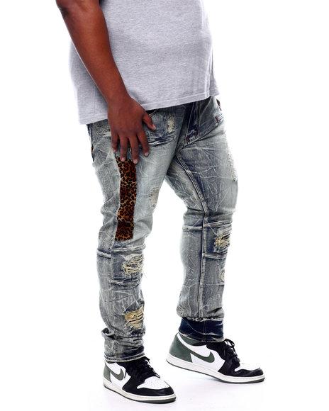 Makobi - Leopard Panel Jeans (B&T)