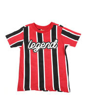 Sizes 4-7x - Kids - Vertical Striped Tee W/ Legend Script (4-7)-2466461