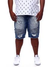 Shorts - Biker Shorts With Shredding (B&T)-2469895