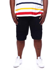 Makobi - Biker Shorts With Shredding (B&T)-2469920