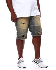 Makobi - Biker Shorts With Shredding (B&T)-2470073