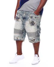 Shorts - Biker Shredded Shorts (B&T)-2470351