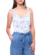 Fashion Tops - Vnk Top W Knot Frt & Ruffle Detail-2471138