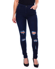 Jeans - RIPPED KNEE HIGH WAIST JEAN-2467776