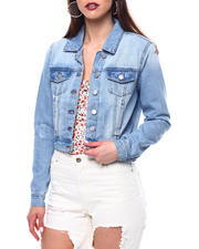 Outerwear - CROP DENIM TRUCKER JACKET-2470154