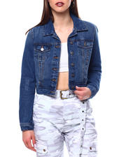 Outerwear - CROP DENIM TRUCKER-2470897