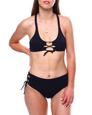 Swimwear - Keyhole Detail Top Keyhole Side HI Waist Bottom-2471023