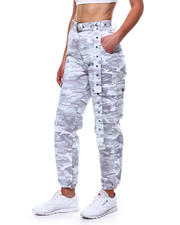 Bottoms - Camo High Waist Cargo Pant w/Belt-2471124