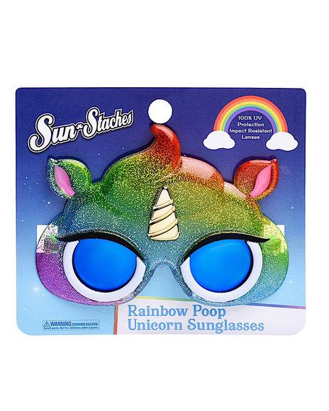 Sun Staches - Rainbow Poop Unicorn Sunglasses