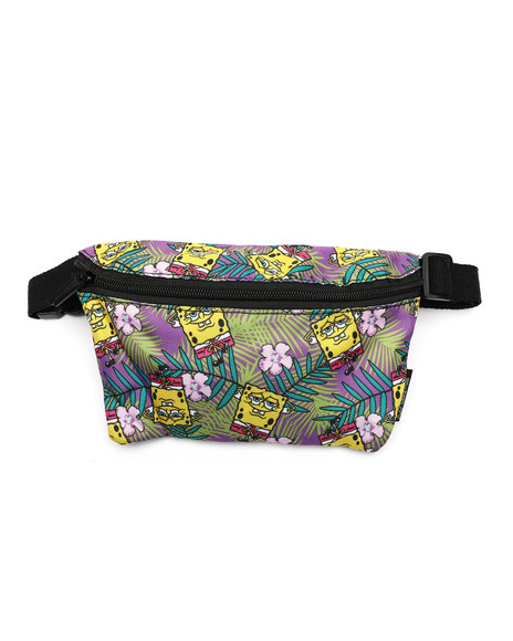 FYDELITY - Ultra-Slim Fanny Pack: NICK SpongBob Purple Hawaii (Unisex)