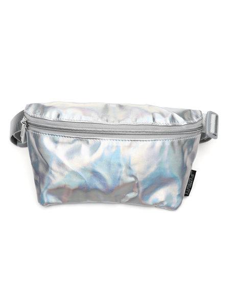 FYDELITY - Ultra-Slim Fanny Pack: Metallic Silver Laser (Unisex)