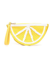 Clutches - Straw Lemon Clutch-2469738
