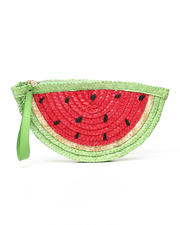Fashion Lab - Straw Watermelon Clutch-2469739