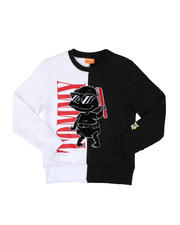 Sweatshirts & Sweaters - Cool Tommy Rugrats Color Block Crew Neck Sweatshirt (4-20)-2469584