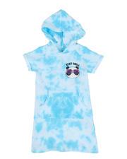 Girls - Acid Wash Print Sweatshirt Dress (4-6X)-2469694