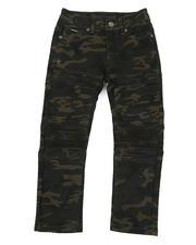 Boys - Skinny Stretch Camo Moto Bull Denim jeans (8-18)-2470323