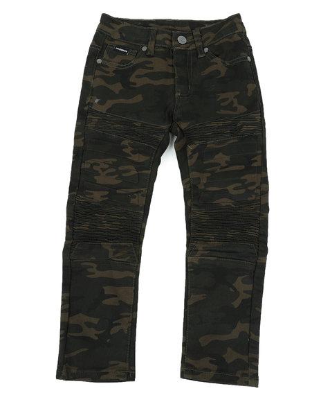 Arcade Styles - Skinny Stretch Camo Moto Bull Denim jeans (8-18)