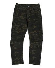 Arcade Styles - Skinny Stretch Camo Moto Jeans (8-18)-2470516
