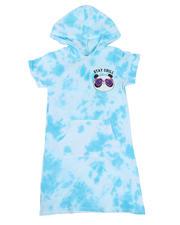 Girls - Acid Wash Print Sweatshirt Dress (7-16)-2469690