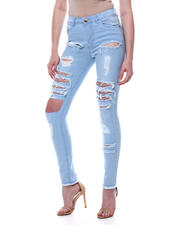 Jeans - DESTRUCTED HIGH WAIST 5 POCKET JEAN-2467748