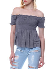 Fashion Lab - S/S Off Shoulder Smocked Top-2469454