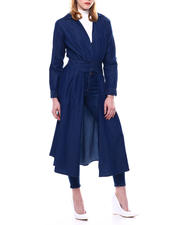Spring-Summer-W - SPLIT FRONT DENIM DUSTER WITH SMOCK BACK-2468354
