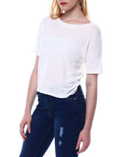 Fashion Lab - S/S Jersey Crew Neck Knotted Back Tee-2469377