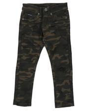 Sizes 2T-4T - Toddler - Skinny Stretch Camo Moto Bull Denim jeans (2T-4T)-2470318