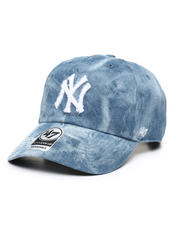 Dad Hats - Denim Fray Yankees Clean Up Cap-2465721