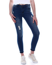 Jeans - Mid High Waist Distressed Skinny Jean-2471090