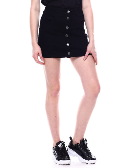Almost Famous - 6 Button Frt Denim Skirt