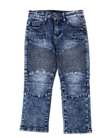 Arcade Styles - Skinny Stretch Moto Jeans (4-7)