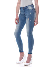 Bottoms - Mid High Waist Distressed Skinny Jean-2471103