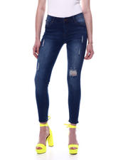Jeans - Mid High Waist Distressed Skinny Jean-2471116