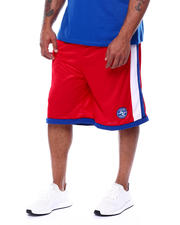 Julius Erving (DR. J) - Side Stripe Mesh Knit Shorts (B&T)-2472299