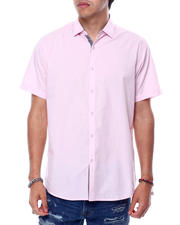 Mens-Holiday - SS Solid Poplin Shirt-2471865