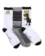DRJ SOCK SHOP - 3 Pair Dino Crew Socks-2468586