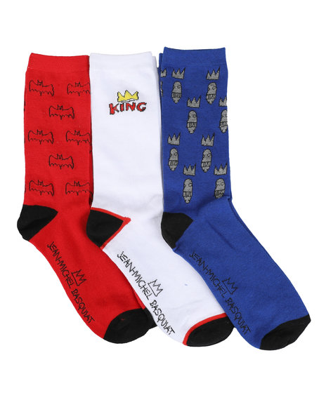 Jean-Michel Basquiat - 3 Pair King Crew Socks
