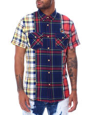 Button-downs - Ghent Multi Plaid SS Woven-2473089