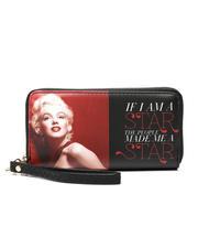 Accessories - Marilyn Monroe Double Zipper Wallet W/ Wristlet Strap-2472017