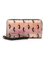 Baby Phat - Baby Phat Double Zipper Wallet W/ Wristlet Strap-2472011