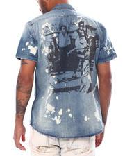 Button-downs - Kensington SS Denim Woven Shirt-2473144