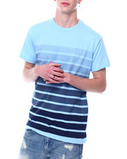 Shirts - S/S Crew Neck Printed Stripe Tee-2473454