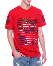 SWITCH - RAZOR SLASHED TEE W GRADIENT PRINT-2473401